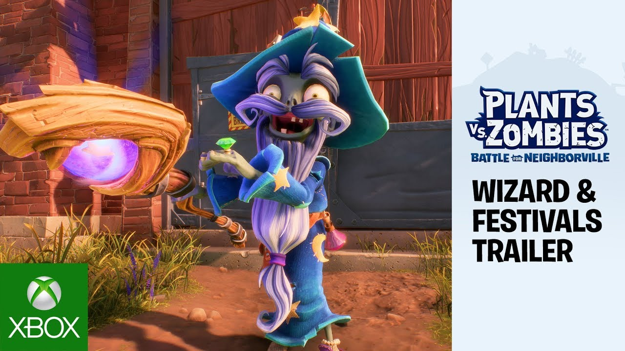 Plants vs. Zombies: Battle for Neighborville – New Festival Content Trailer ft. Wizard