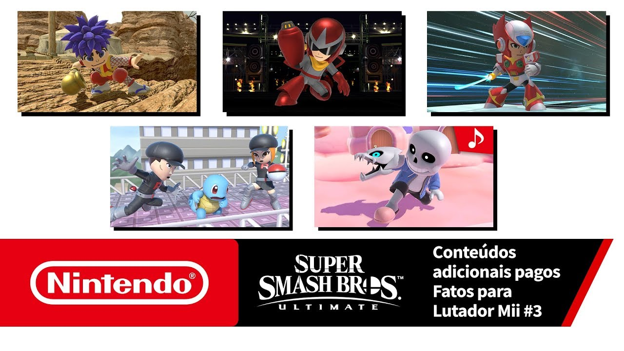 Super Smash Bros. Ultimate – Fatos para os Lutadores Mii #3 (Nintendo Switch)