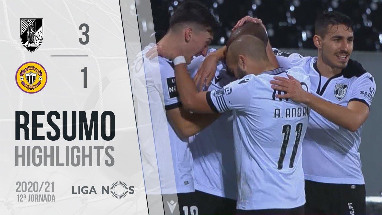 Highlights | Resumo: Vitória SC 3-1 CD Nacional (Liga 20/21 #12)
